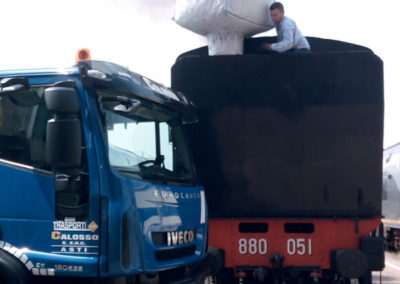 servizio trasporto camion son gru